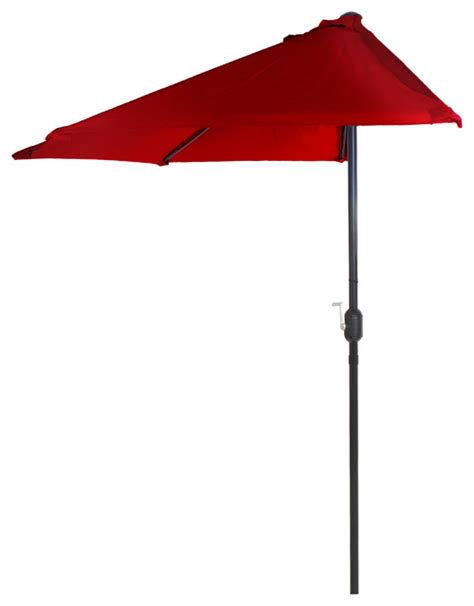 outdoor half patio umbrella garden 9 half patio umbrella contemporary