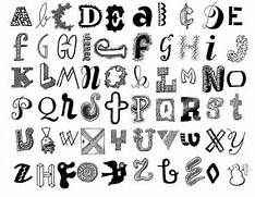 How To Write Cool Letters On Paper Cute Way To Write Letters Drawing Examples Pinterest Letters Om
