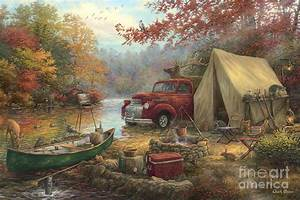 Share The Outdoors Painting By Chuck Pinson