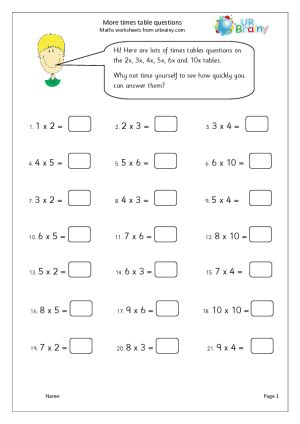 times table questions urbrainy