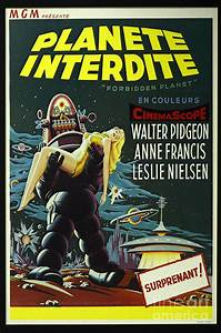 The Forbidden Planet Vintage Movie Poster Photograph by