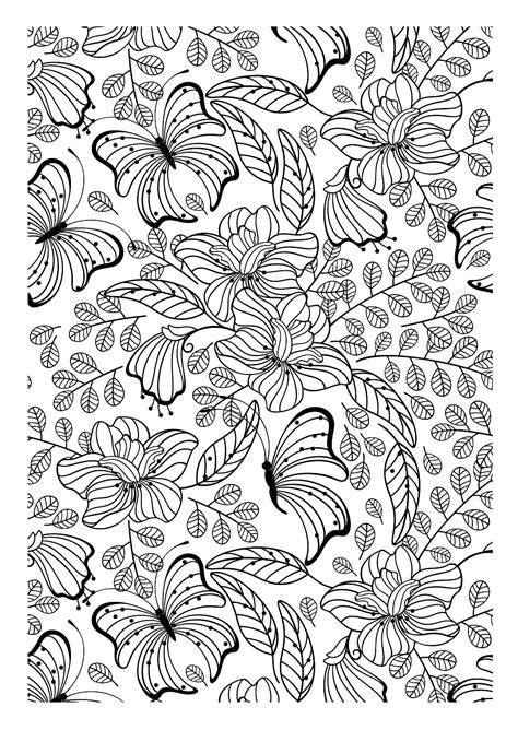 insects coloring pages  adults coloring adult butterflys