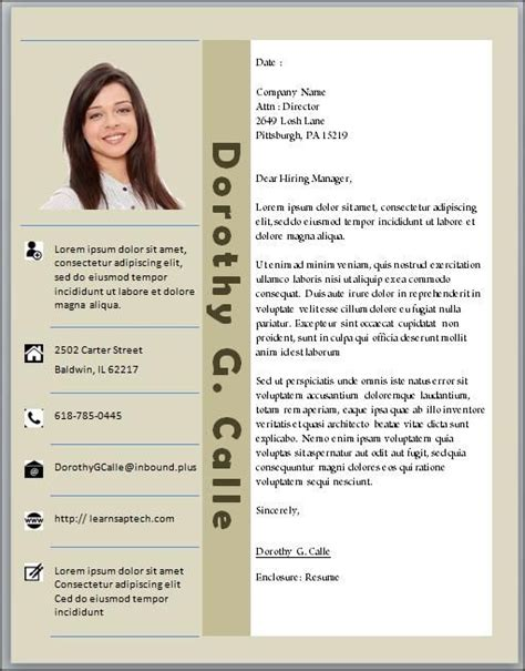 cv template word downloadable editable customized photo