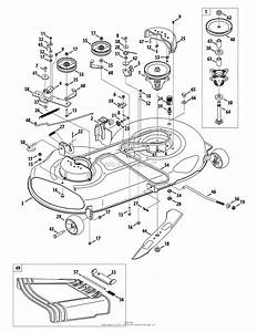 Mtd 13ax791t031  2010  Parts Diagram For Mower Deck 46