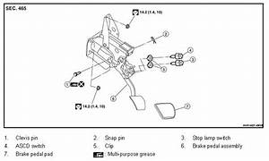 p1572 2011 nissan altima sedan brake pedal switch circuit With stop lamp switch on a 94 nissan altima