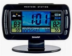 New Sharp Electronic Wireless Weather Station Clock