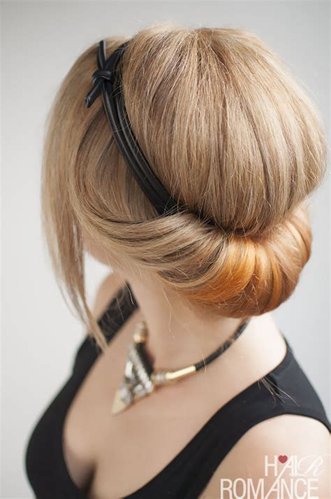 How to do a chic rolled updo   Hair Romance