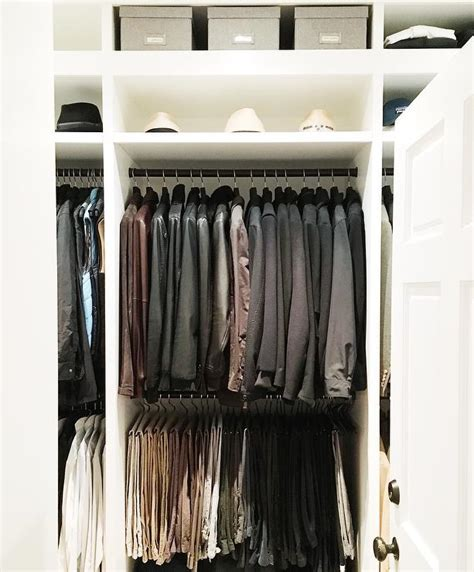 mens closet  hat shelf transitional closet