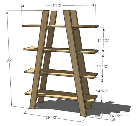 Ladder Bookcase Plans by White Truss Shelves Diy Projects