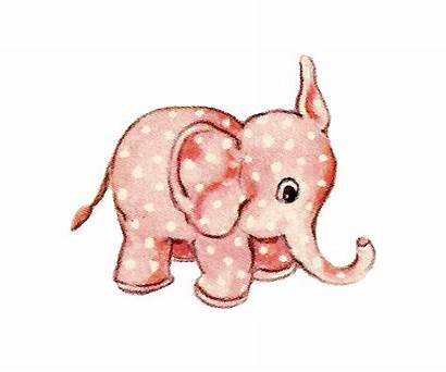 Elephant Clipart Toy Pink Clip Graphic Antique