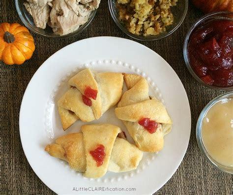 thanksgiving leftover crescent roll ups recipe