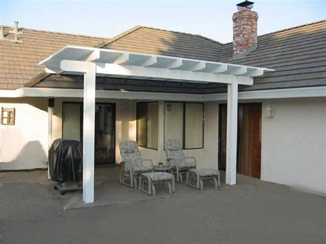 pergola attached to roof outside