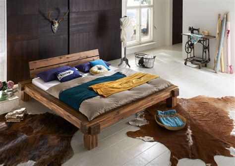 SAM® Massivholzbett Balkenbett 180 x 200 cm aus Akazie ELKE