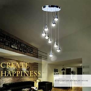 Lustre Salon Moderne : led 9 lampes lustre suspension moderne simple acrylique ~ Voncanada.com Idées de Décoration