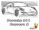 911 Coloring Carrera Porsche Pages Turbo Cars Sketch Template Corvette Gusto Yescoloring Yes sketch template