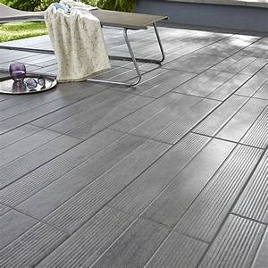 carrelage terrasse gris 31 x 618 cm vieste castorama With photo de terrasse en carrelage