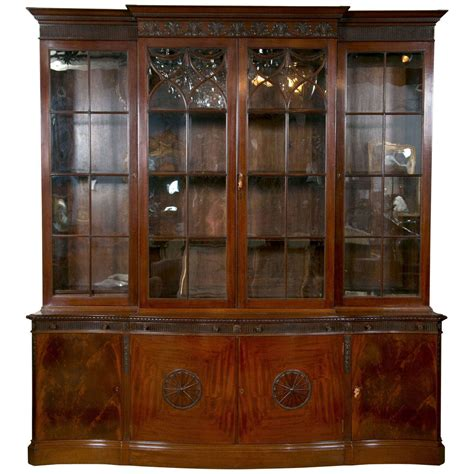 Bookcases For Sale by Mahogany Breakfront Bookcase For Sale At 1stdibs