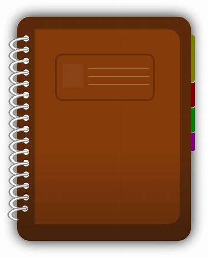 Journal Clip Clipart Diary Cliparts Homework Notebook
