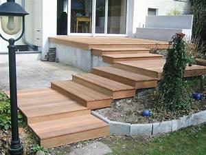 Bankirai Terrasse Pflegen : terrassen treppen holz selber bauen ~ Frokenaadalensverden.com Haus und Dekorationen
