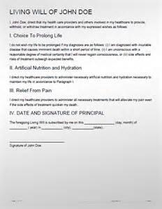 Printable Living Will Sample