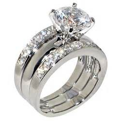 cubic zirconia wedding sets 3 47 ct cubic zirconia cz solitaire bridal engagement wedding 3 ring set jewelry