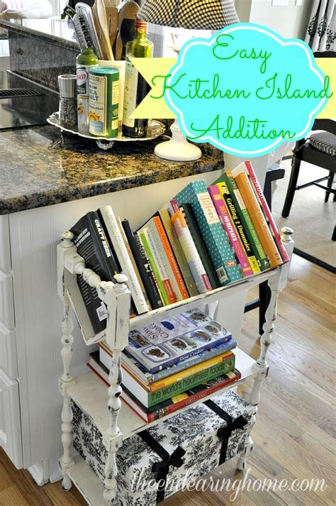 kitchen cookbook storage a recipe for adding storage to your kitchen island 3411