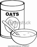 Oat Oatmeal Bowl Template Meal Coloring Sketch Pages Pic sketch template