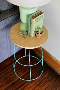 Diy tomato cage side table for Side table diy