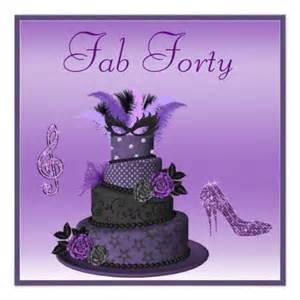 fab 40 purple diva cake sparkle heels birthday card