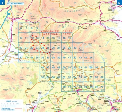 yorkshire dales map   maps