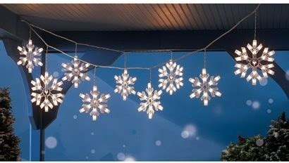 snowflake string lights outdoor 9 clear snowflake icicle string lights modern holiday