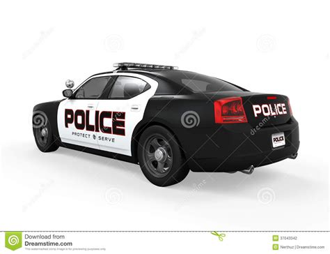 Police Car Stock Illustration. Image Of Patrol, Pursuit