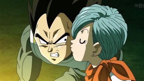 dragon ball super vegeta bulma moment bulma kisses