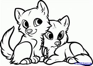 How to Draw Wolf Puppies, Wolf Cubs, Step by Step, forest ...