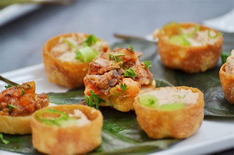 how to canapes caribbean canapé menu by caribbean cook pot catering