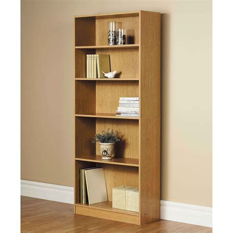 5 Shelf Bookcase by 72 Quot 5 Shelf Wide Bookcase Oak Walmart