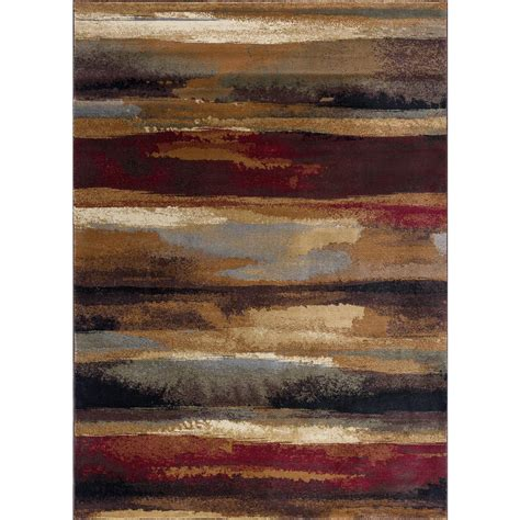 Kitchen Rugs At Home Depot by Tayse Rugs Festival Multi 8 Ft X 10 Ft Contemporary Area