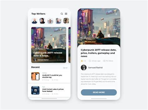 Blog App Design by Samsad Rashid on Dribbble