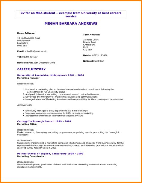 cv template  college students theorynpractice