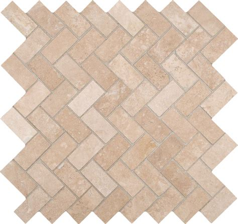 herringbone travertine tile travertine herringbone 12 inch x 12 inch x 10mm honed travertine mesh mounted mosaic tile smot