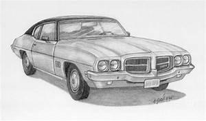 1971 Pontiac Lemans Drawing By Rita Palmer