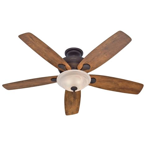 ceiling fans shop hunter regalia 60 in new bronze indoor downrod or close mount ceiling fan with light kit at