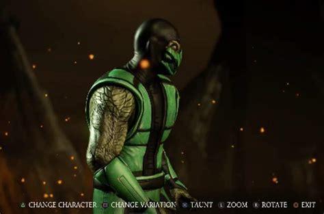 Mortal Kombat X Klassic Reptile Isn't Human Ninja Skin