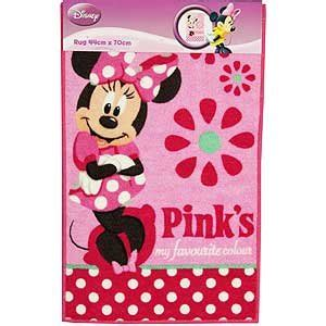minnie mouse pink girls bedroom rug new amazon co uk