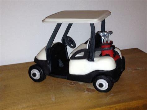 Fondant Cake Topper Golf Cart