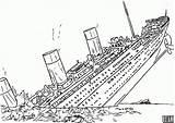 Coloring Ship Sunken Sinking Battleship Popular sketch template