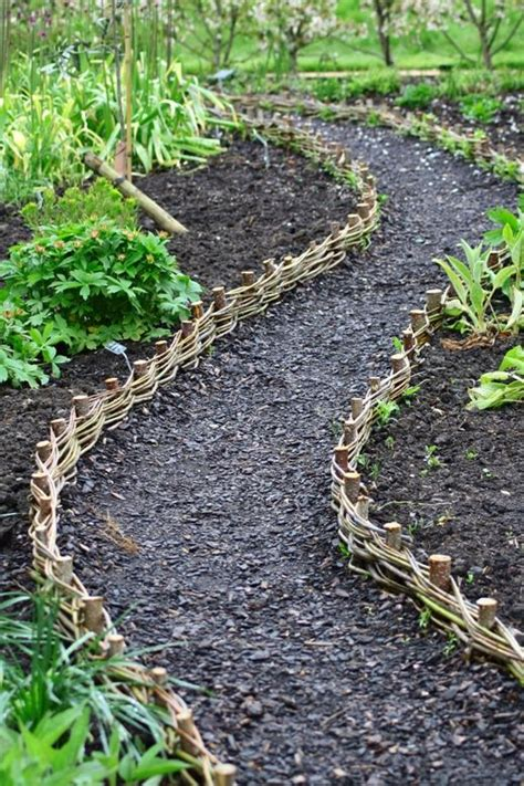 path edging willow weave path at rhs harlow carr make similar but a bit taller and because we have a