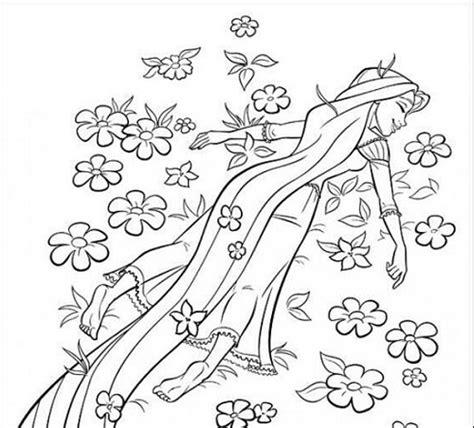 principesse disney da colorare rapunzel disegni da colorare primavera rapunzel mamme magazine