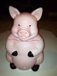 Pink Pig Cookie Jar Vintage