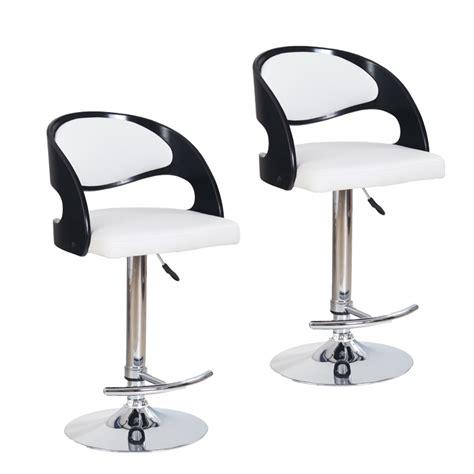 chaise de bar blanc chaise de bar noir et blanc cuisine en image
